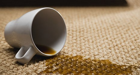 Slipped coffee on carpet